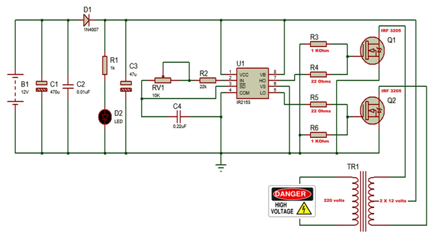 inverter-using-IR2153-8